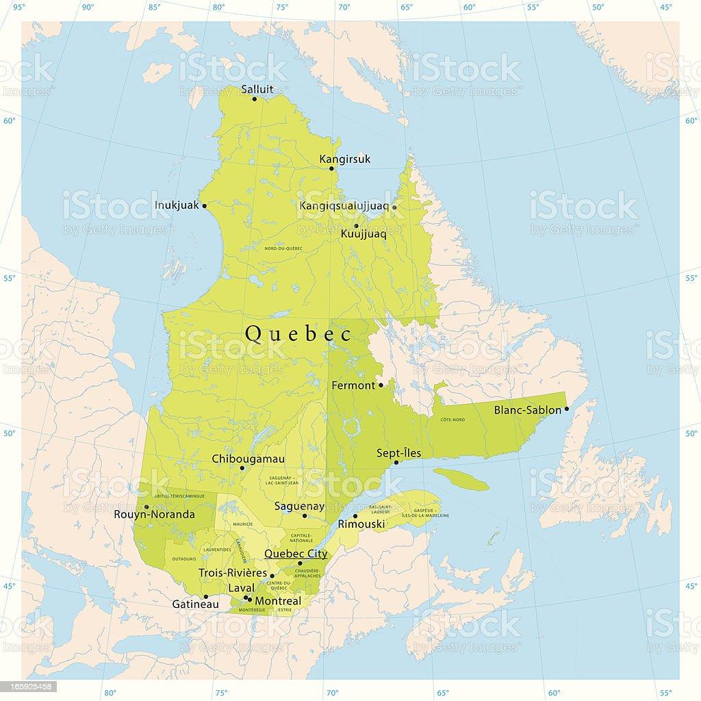 Quebec Karte.Quebec Vector Map Stock Illustration Download Image Now Istock
