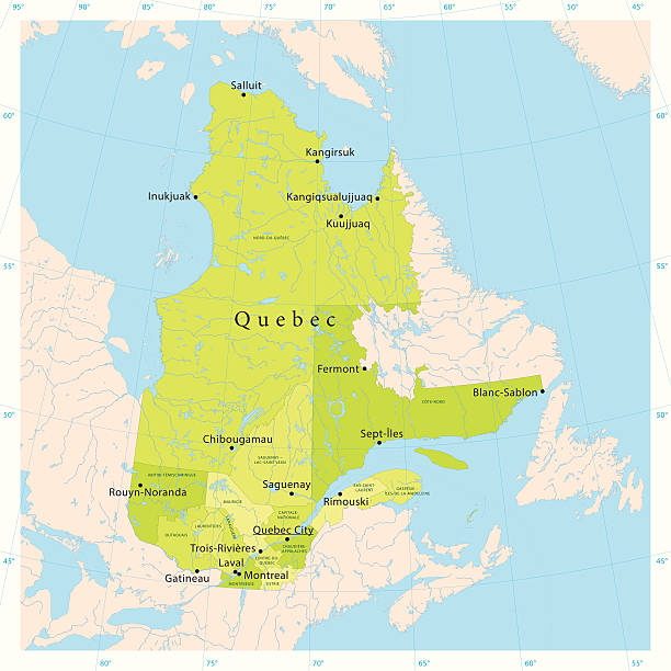 Quebec Vector Map