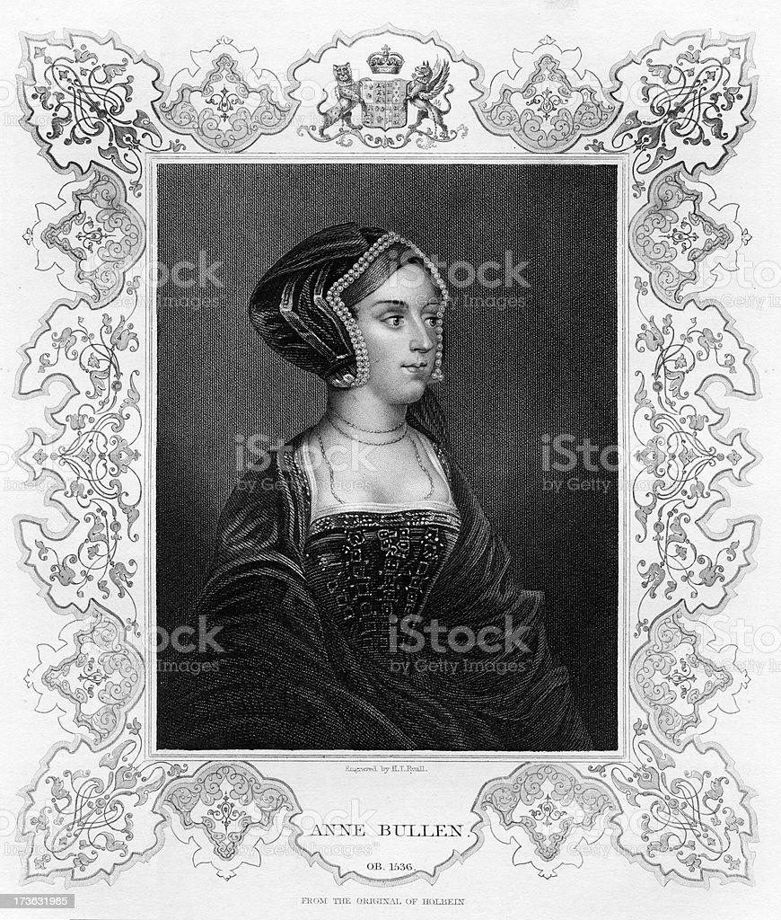 Queen Anne Boleyn royalty-free stock vector art