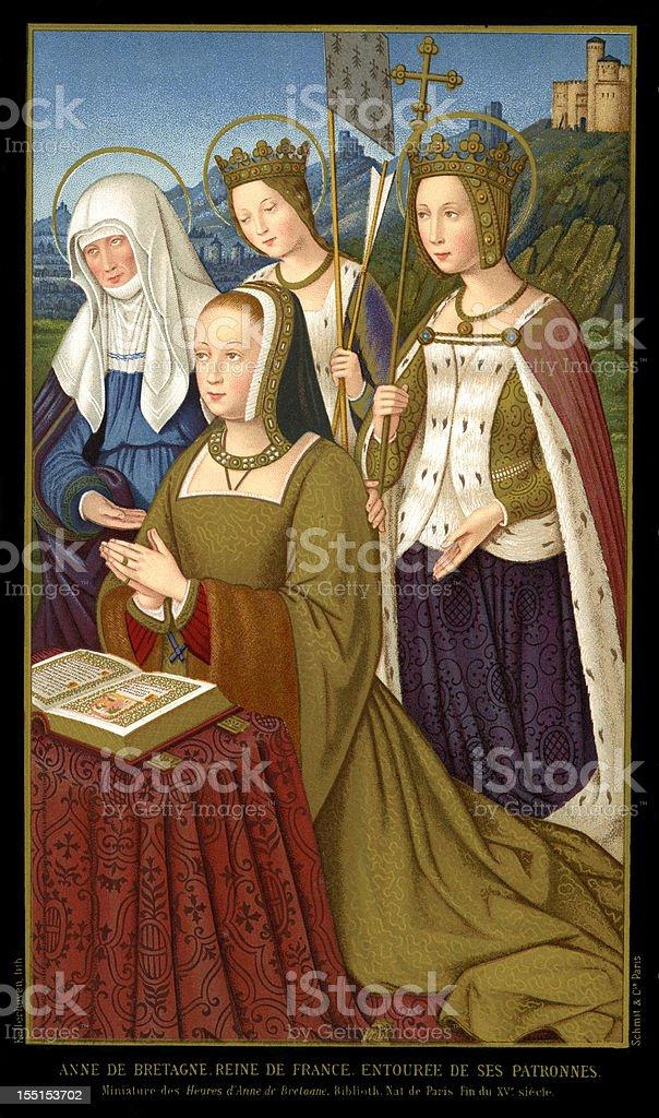 Reine Anne de Bretagne - Illustration vectorielle