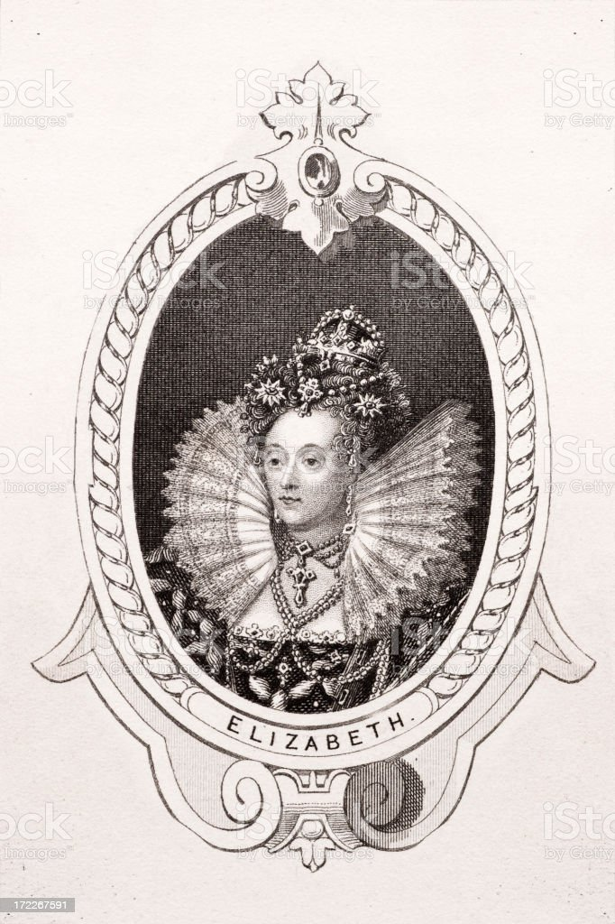 Queen Elizabeth I royalty-free stock vector art