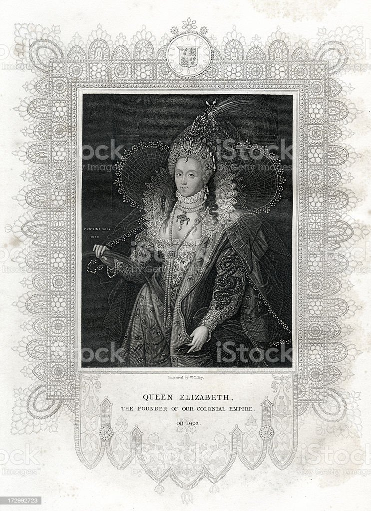 Queen Elizabeth I vector art illustration