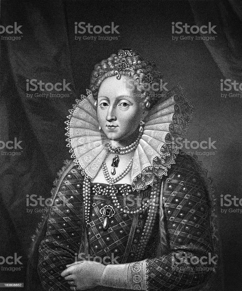Queen Elizabeth I (XXXL) vector art illustration
