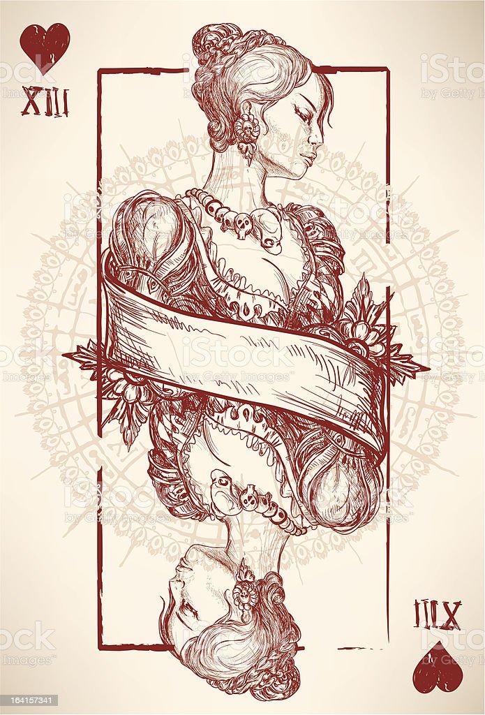 Queen royalty-free stock vector art