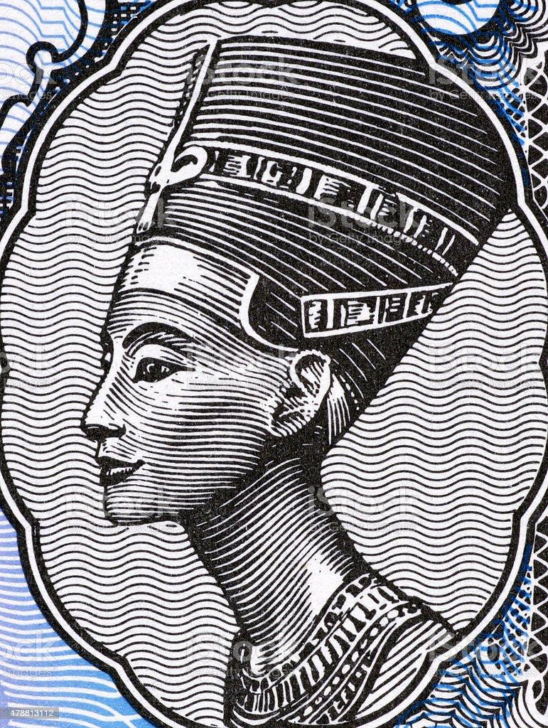 Queen Nefertit vector art illustration