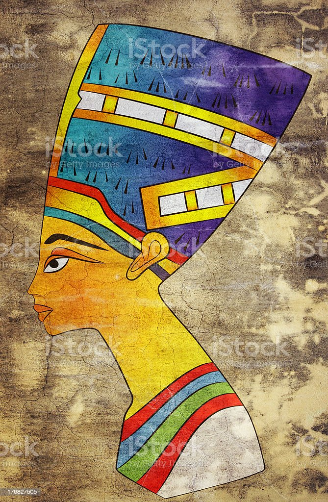 Queen of Ancient Egypt royalty-free stock vector art