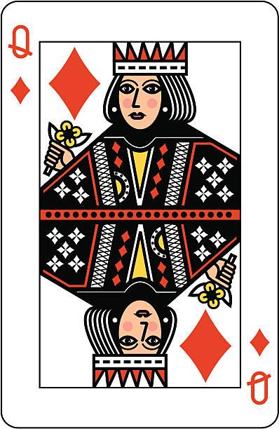Best Queen Of Diamonds Illustrations, Royalty-Free Vector ...