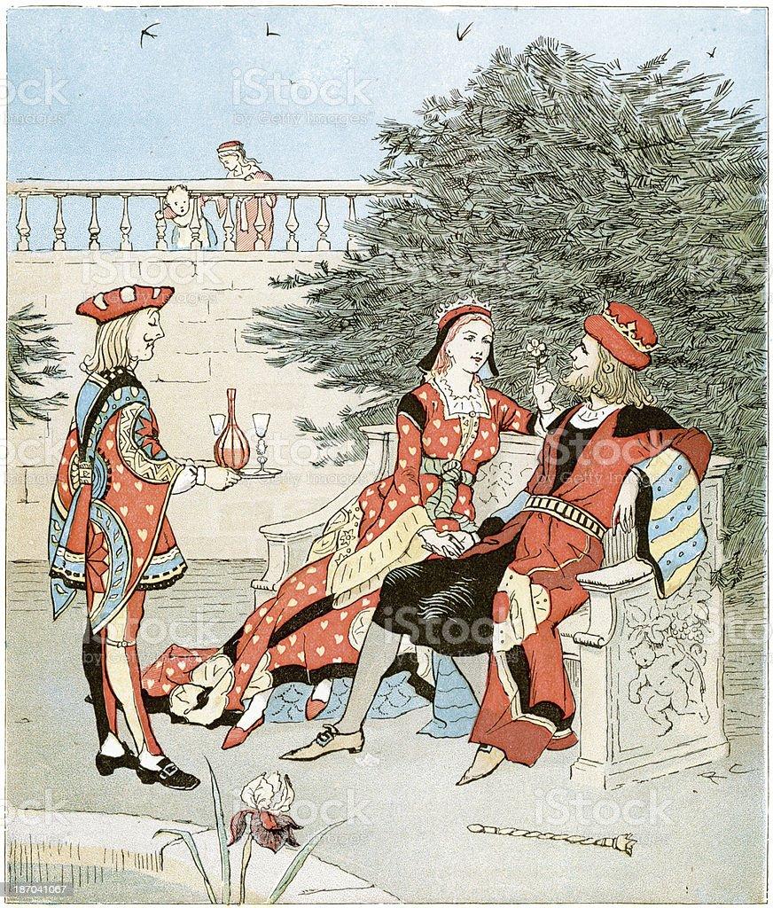Queen of Hearts royalty-free stock vector art