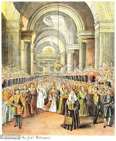 istock Queen Victoria's first State Opening of Parliament 653494602