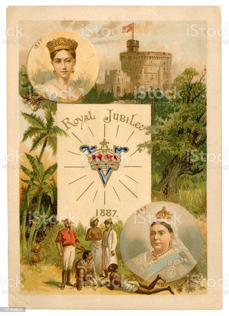 Queen Victoria's Golden Jubilee - souvenir vector art illustration