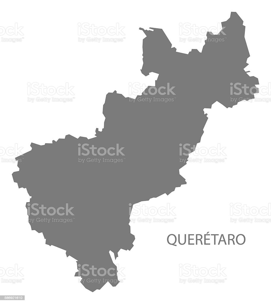 Queretaro Mexico Map Grey Stock Vr Art und mehr Bilder von ... on