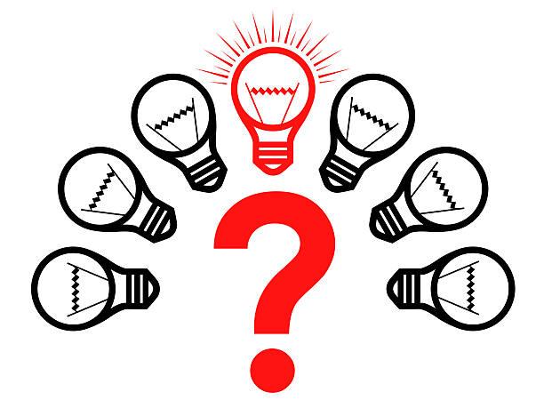bildbanksillustrationer, clip art samt tecknat material och ikoner med question - changing bulb led