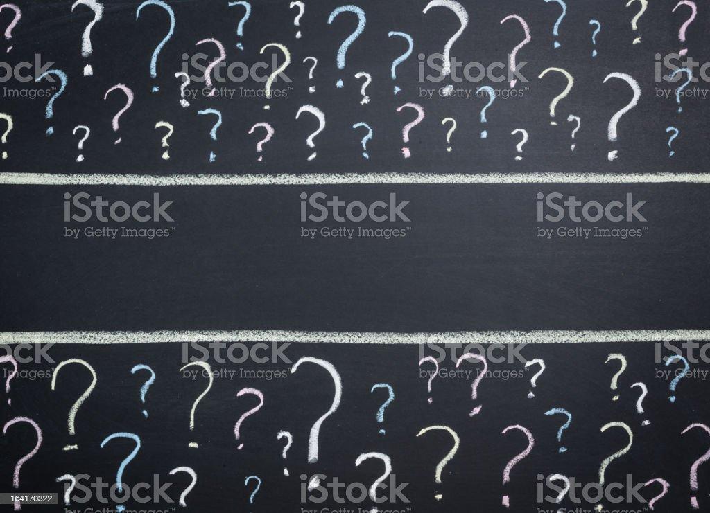 Pregunta es en pizarra - ilustración de arte vectorial