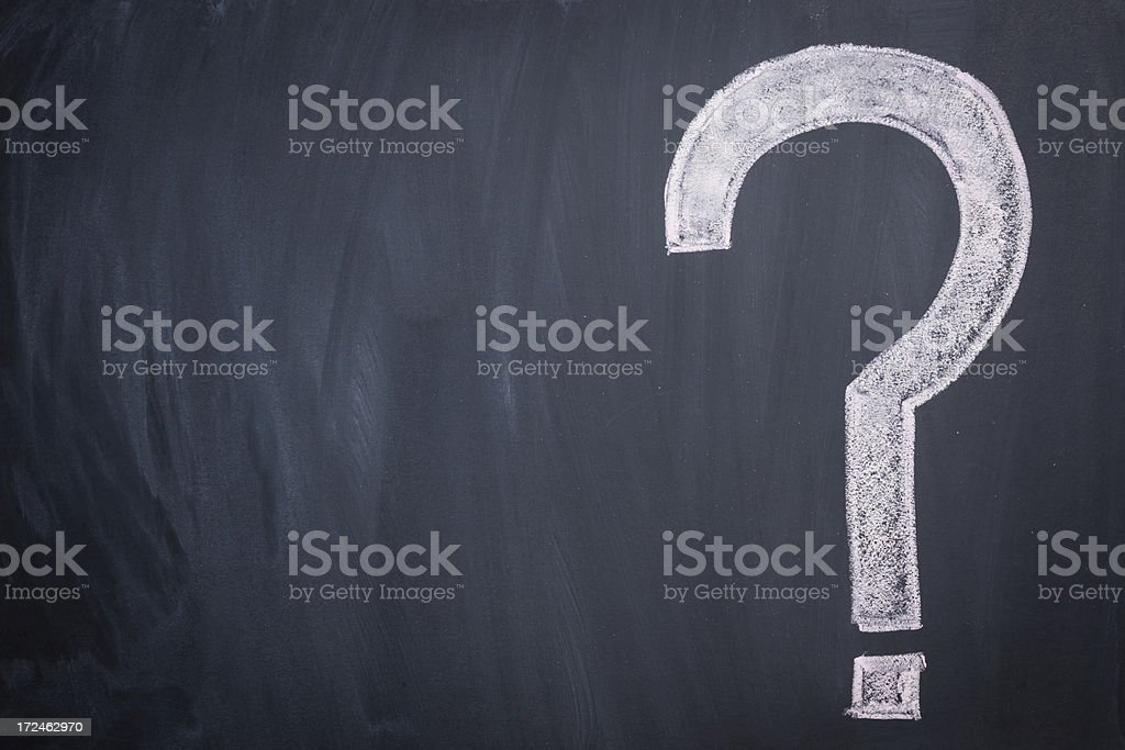 Question Marks on Blackboard royalty-free stock vector art