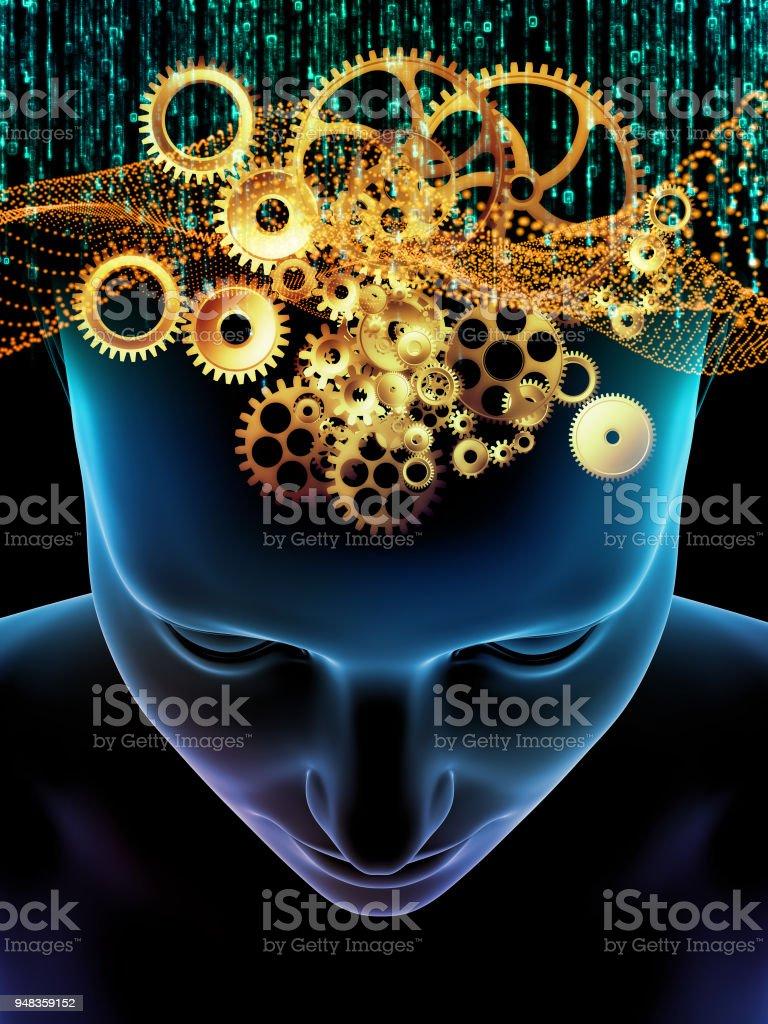 Quickening of Consciousness vector art illustration
