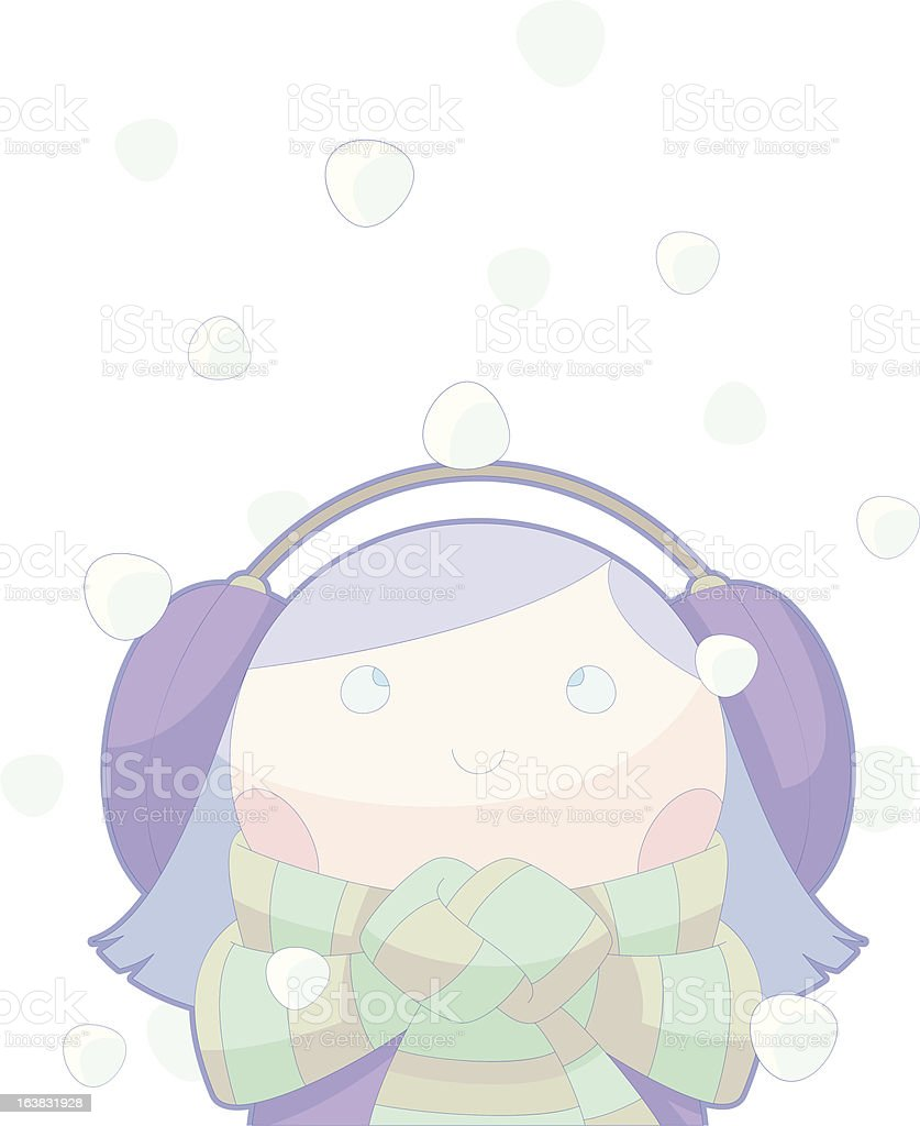 Quiet Snow-Girl royalty-free quiet snowgirl stock vector art & more images of celebration event