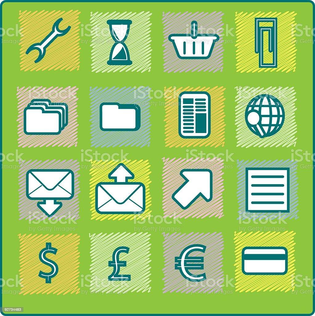 Gesteppte Icons-Ecommerce Lizenzfreies gesteppte iconsecommerce stock vektor art und mehr bilder von akte