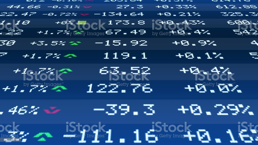 Quote Change Data On Realtime Stock Market Ticker Financial