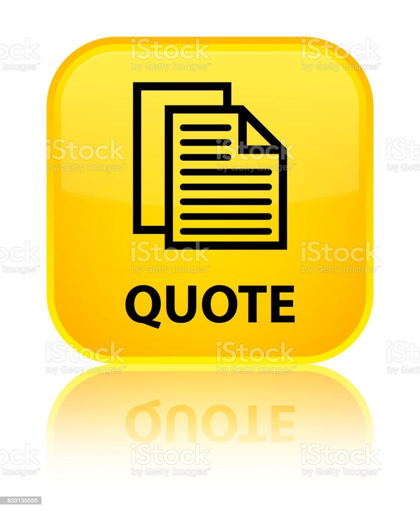 Quote Special Yellow Square Button Stock Vector Art More Images Of