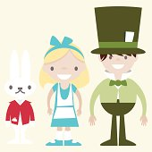 istock rabbit girl and the hatter 164473684