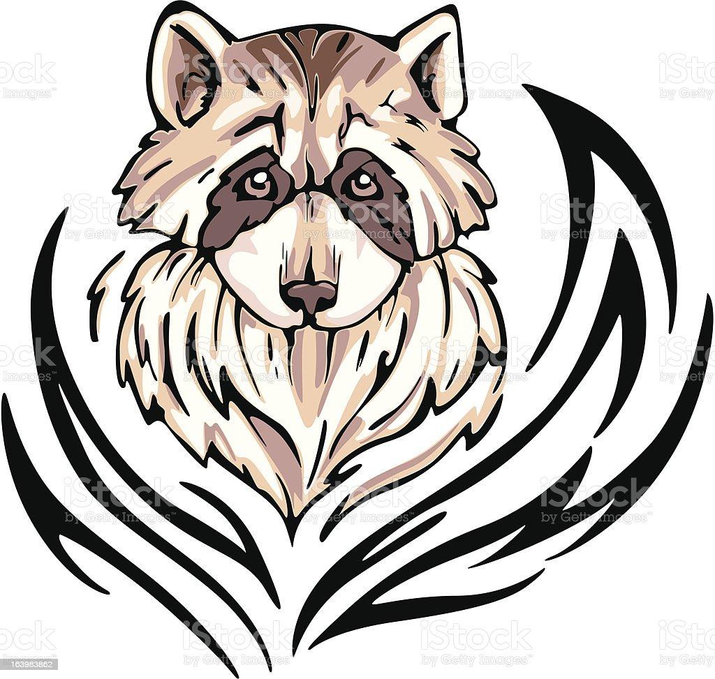 raccoon tattoo royalty-free stock vector art