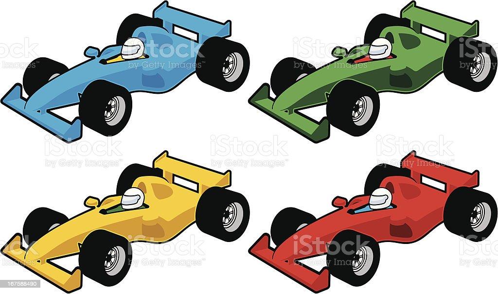 Race Car Icons vector art illustration