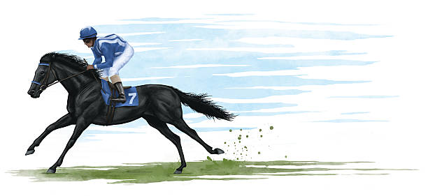 racehorse - horse racing stock illustrations