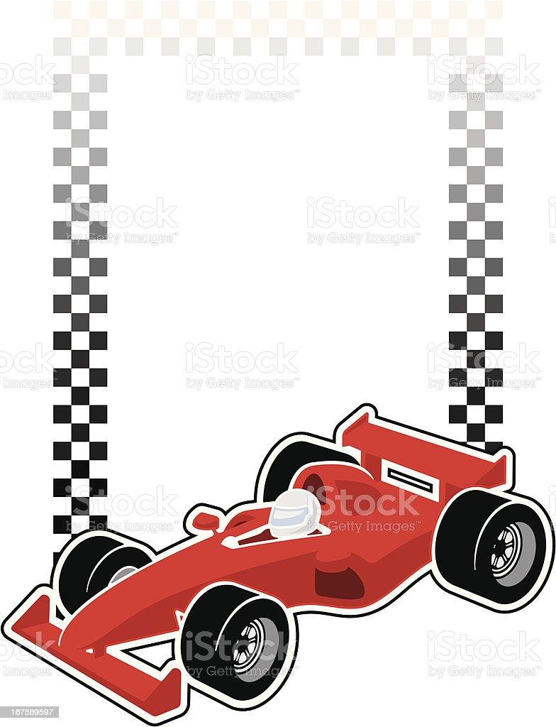 Racing Car Frame vector art illustration