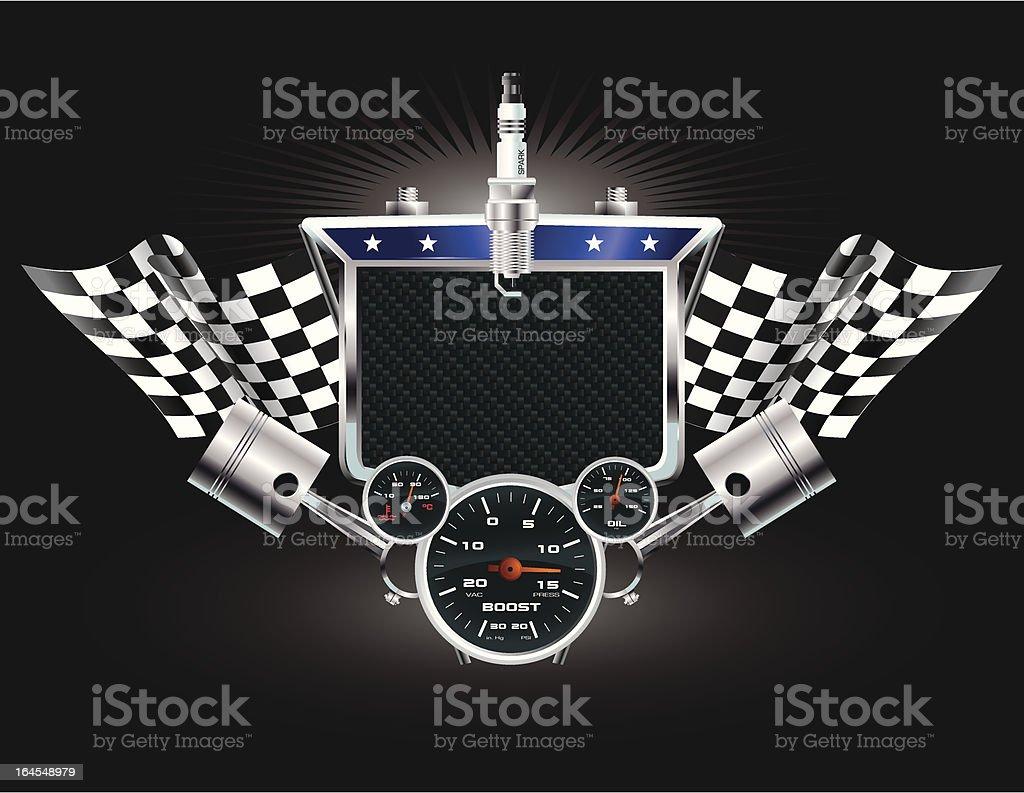 Racing Machine Emblem royalty-free stock vector art