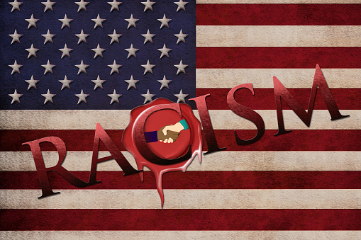 Racism and American flag