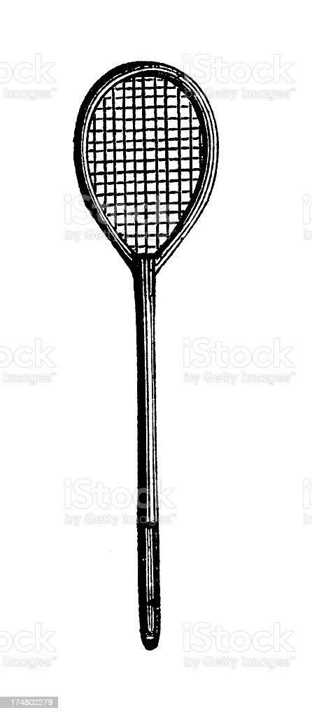 Racket | Antique Sports Illustrations royalty-free stock vector art
