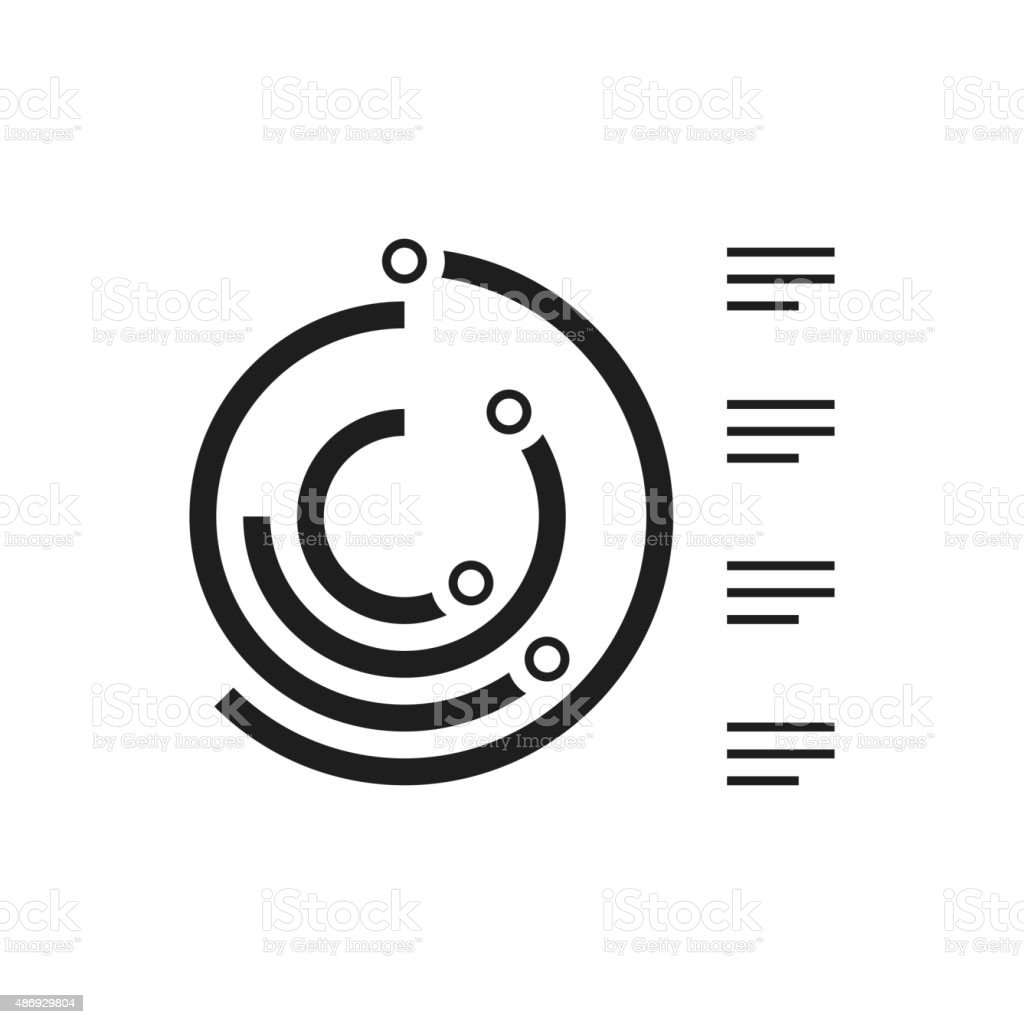 Radial Bar Chart icon on a white background. royalty-free radial bar chart icon on a white background stock vector art & more images of 2015