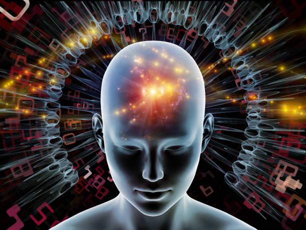 Radiating Mind vector art illustration