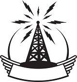vintage style radio crest