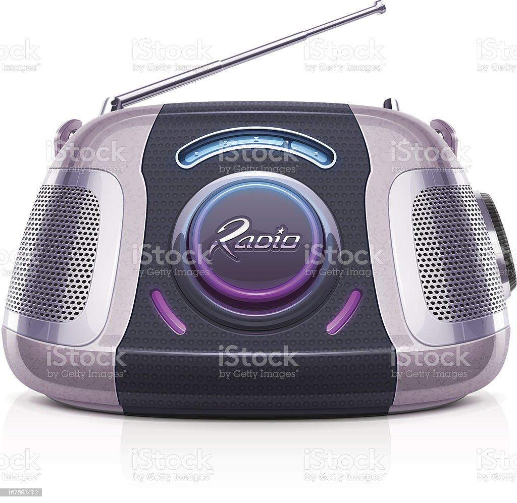 Radio Vector illustration of a portable radio. Arts Culture and Entertainment stock vector