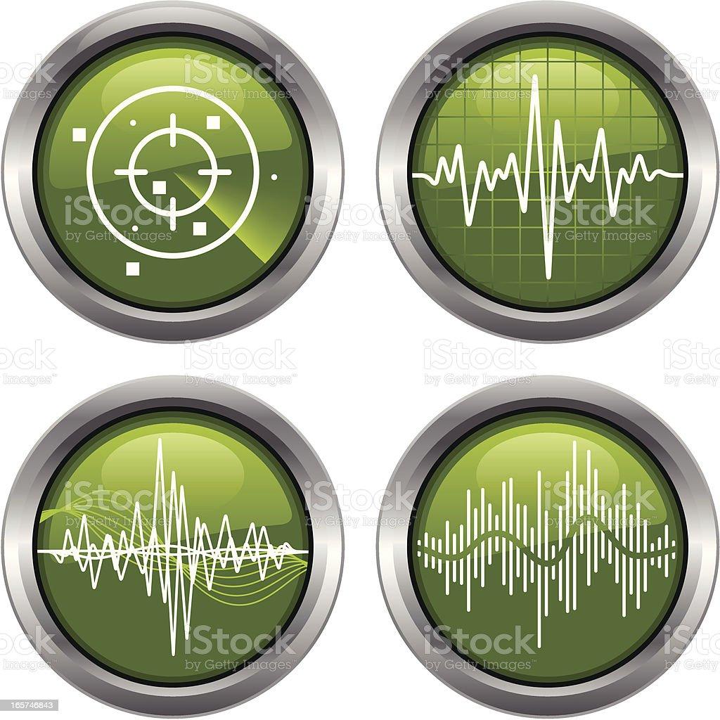Radio Wave Gauges royalty-free radio wave gauges stock vector art & more images of clip art