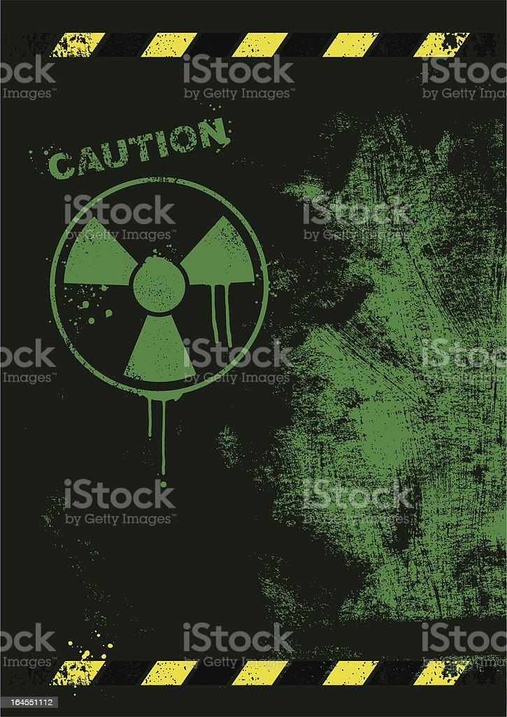 Radioactive caution background vector art illustration