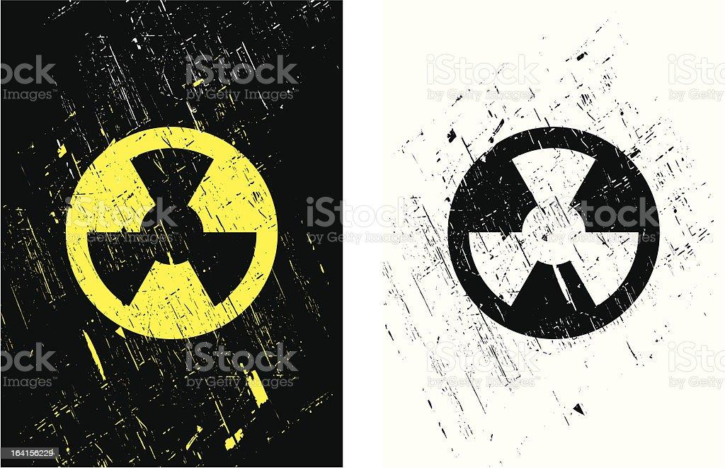 Radioactive Warning Symbol royalty-free stock vector art