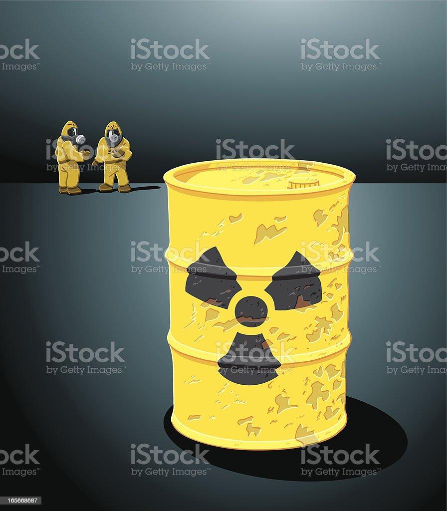 Radioactive Waste royalty-free stock vector art