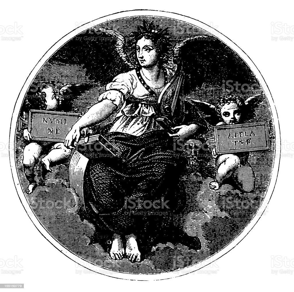 Raffaello's Poetry royalty-free stock vector art