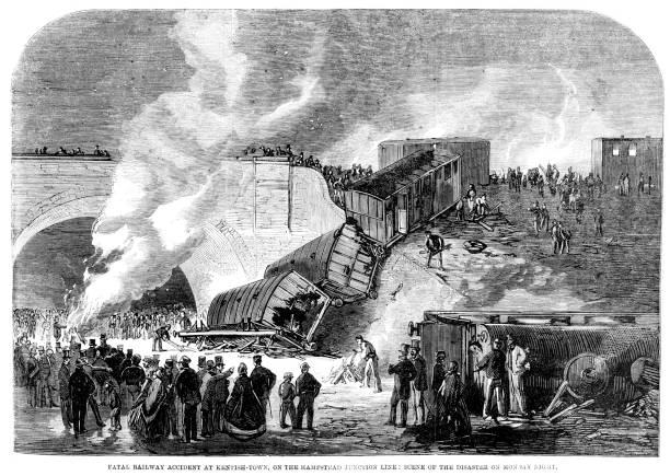 bildbanksillustrationer, clip art samt tecknat material och ikoner med railway accident - derail