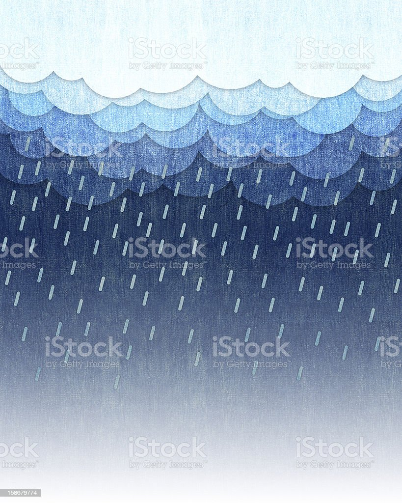 rain background vector art illustration