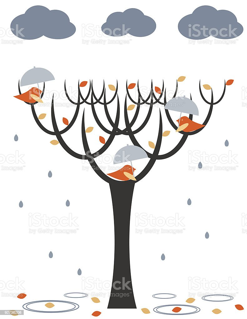 Rain birds - Royalty-free Animal Wing stock vector
