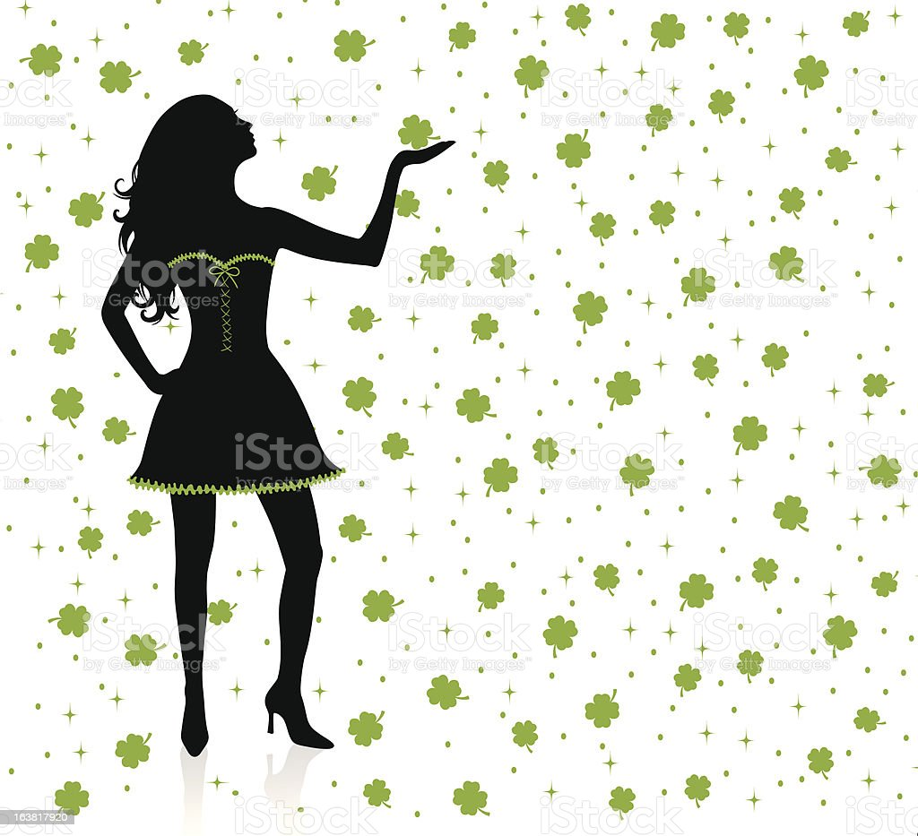 Rain of clover. royalty-free rain of clover stock vector art & more images of abstract