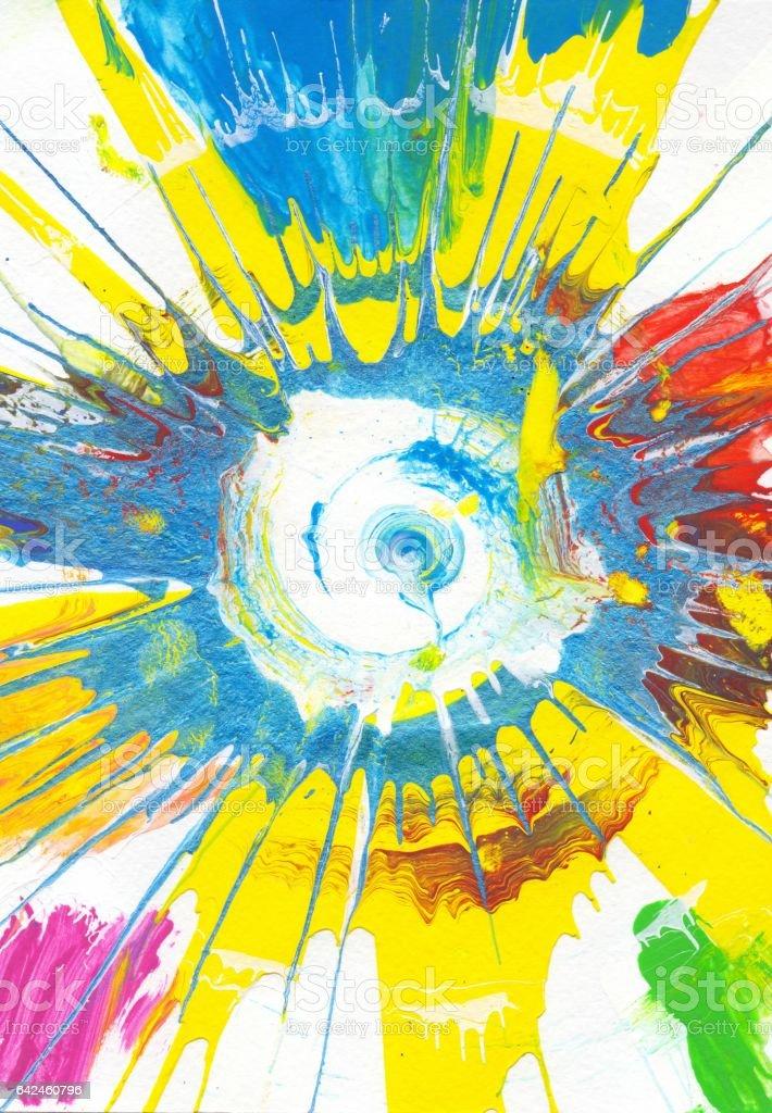 Rainbow Abstract Art Background vector art illustration