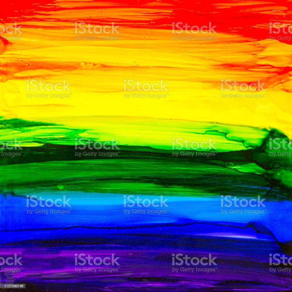 Rainbow Alcohol Ink Painting vector art illustration