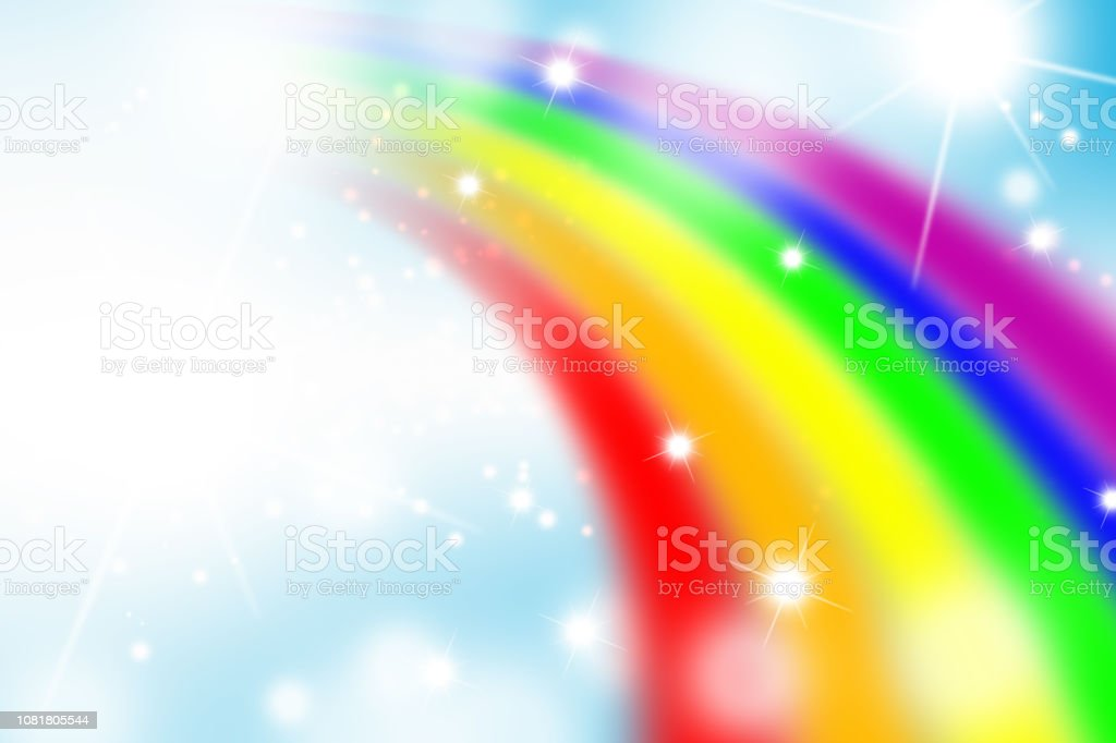 Rainbow Notes On Light Background Stock: Rainbow And Circle Light Background Abstract Stock Vector
