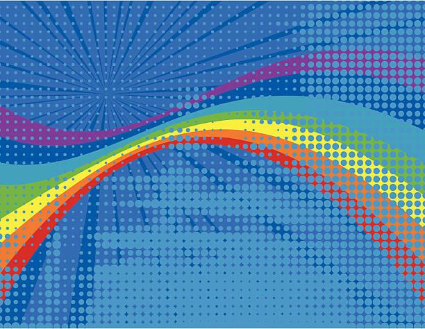 Rainbow background vector art illustration