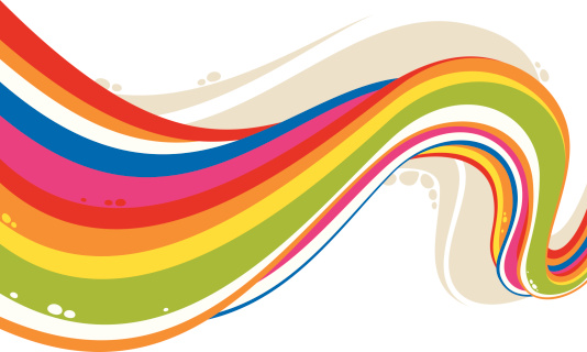 Rainbow Flow-vektorgrafik och fler bilder på Abstrakt
