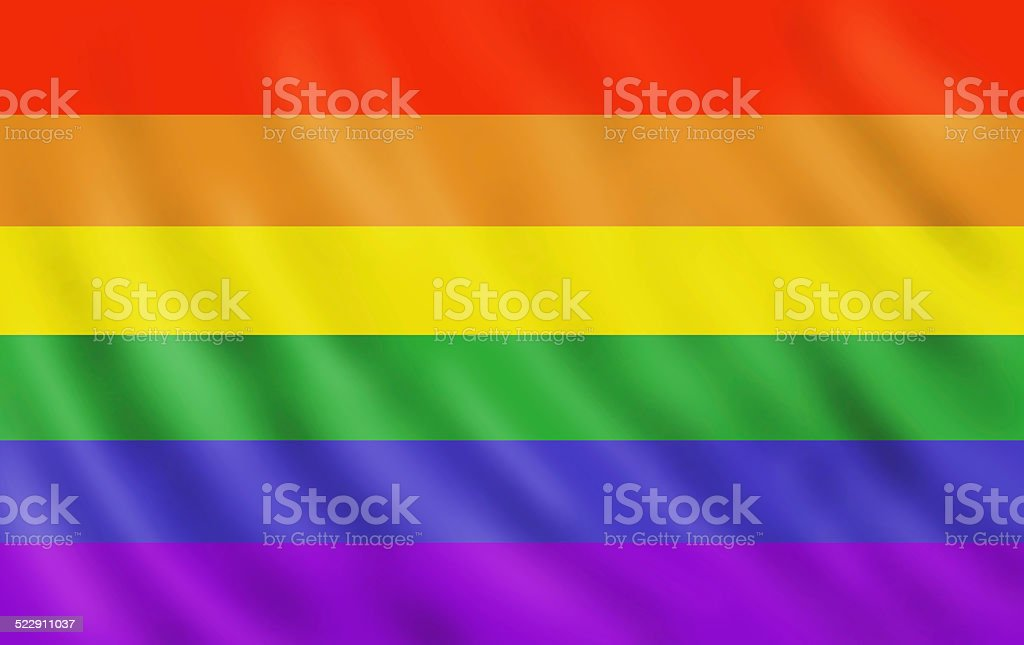 Rainbow gay pride flag vector art illustration